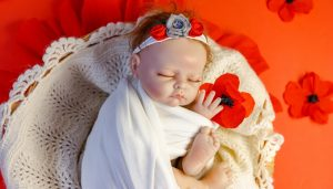 Reborn Baby Sleeping with Flowers