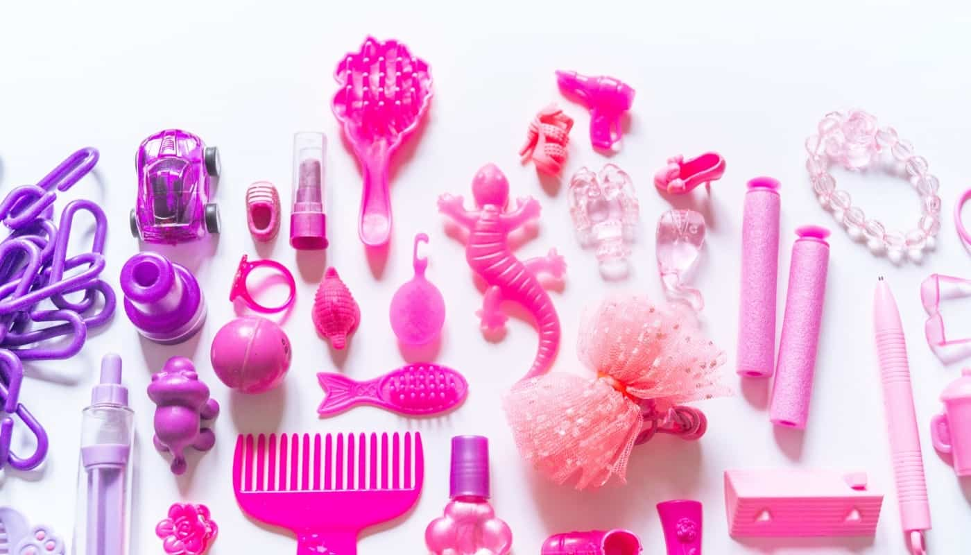 Pink Set of Doll Accessories