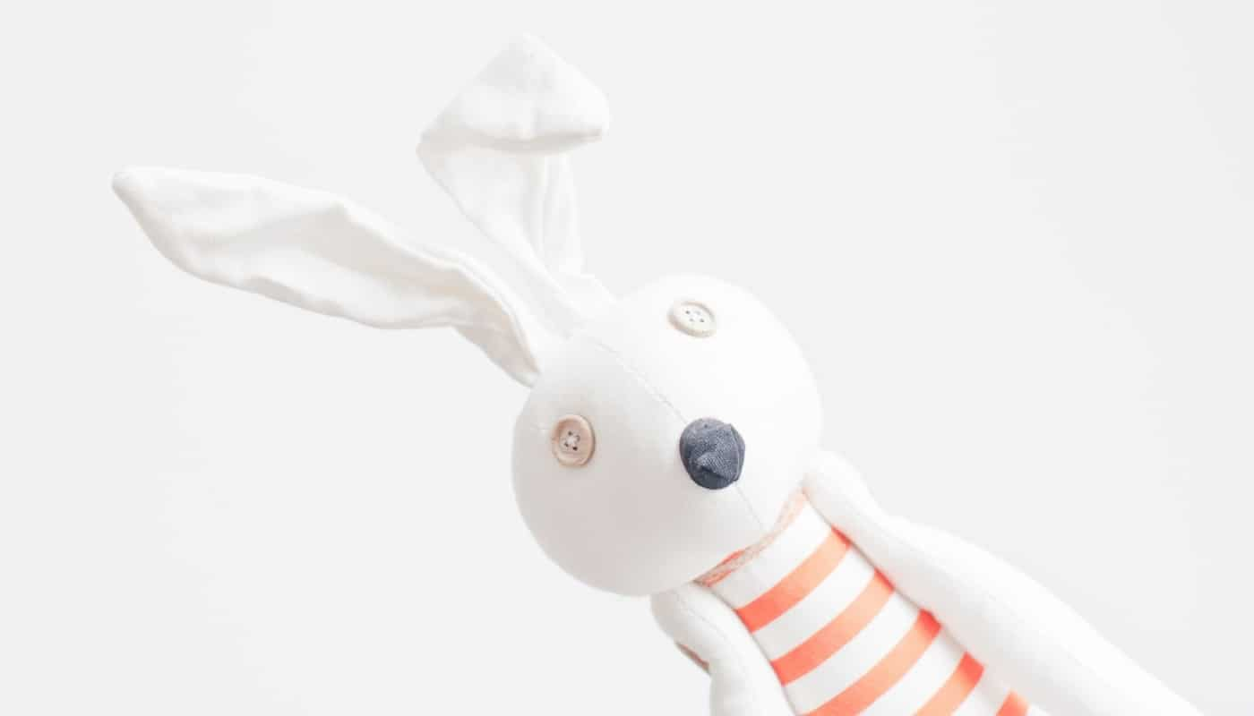 Rabbit Doll with Button Eyes