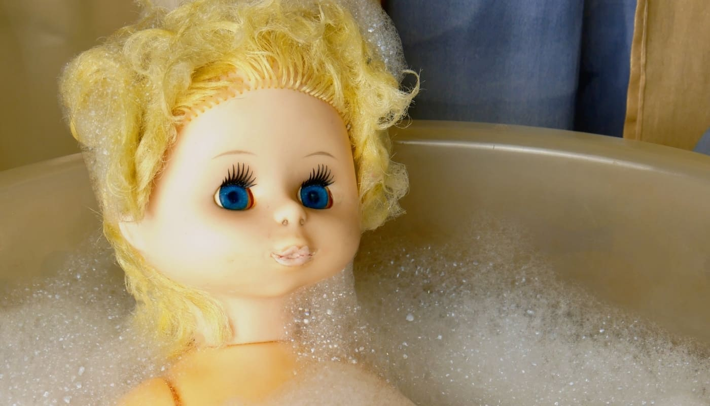 Doll Getting Hair Washed
