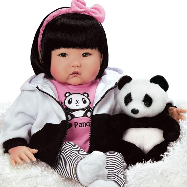 """Paradise Galleries Lifelike Asian Reborn Baby Doll With Panda and Accessories, 20"""""""