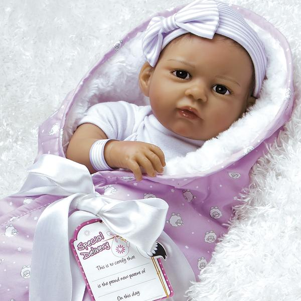 """Paradise Galleries Baby Bundles Hispanic Reborn Baby Doll With Accessories, 20"""""""
